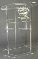 Free Shipping Beautiful Easy Cheap Acrylic Podium Pulpit Lectern