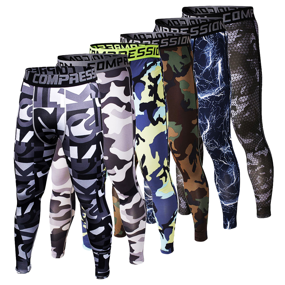 New 3D Camouflage Compression Mens Pants Fashion Tights Jogger Fitness High Elasticity Joggers Base Layer Skinny Men Leggings