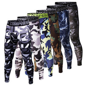 Mens Pants Leggings Tights Jogger Base-Layer Skinny Fitness Camouflage Compression Fashion