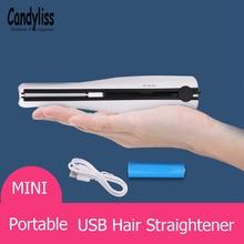 Wireless Hair Straighteners Flat Iron Fast Heating Ceramic Hair Curler Curling Straightener Irons Usb Charger Straightening Iron все цены
