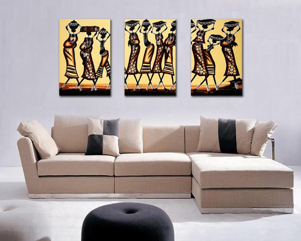 Online buy wholesale african figure painting from china for Decorative pieces for living room