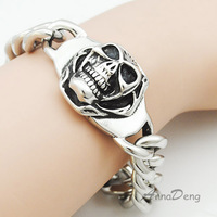 Fashion Pu Chain Leather Bracelet For Mens With Mangent Clasp AB998