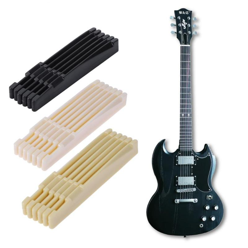 20pcs plastic guitar bridge nuts for folk acoustic guitar musical instrument parts in guitar. Black Bedroom Furniture Sets. Home Design Ideas