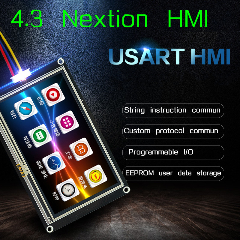 4 3 Nextion Enhanced HMI Intelligent Smart USART UART Serial Touch TFT LCD Module Display Panel