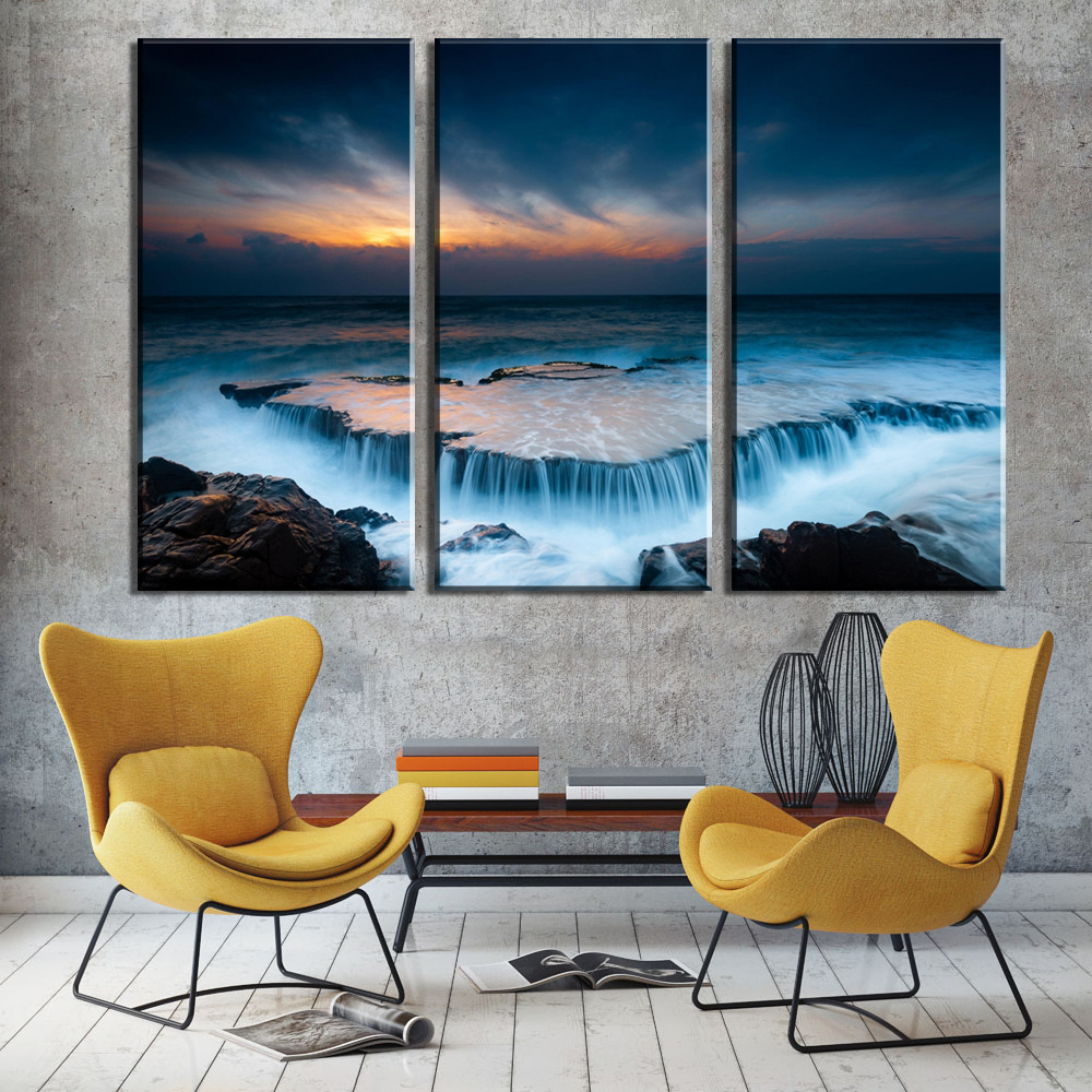 Cheap Art Decor: 3 Piece Free Shipping Cheap Modern Wall Painting Canvas