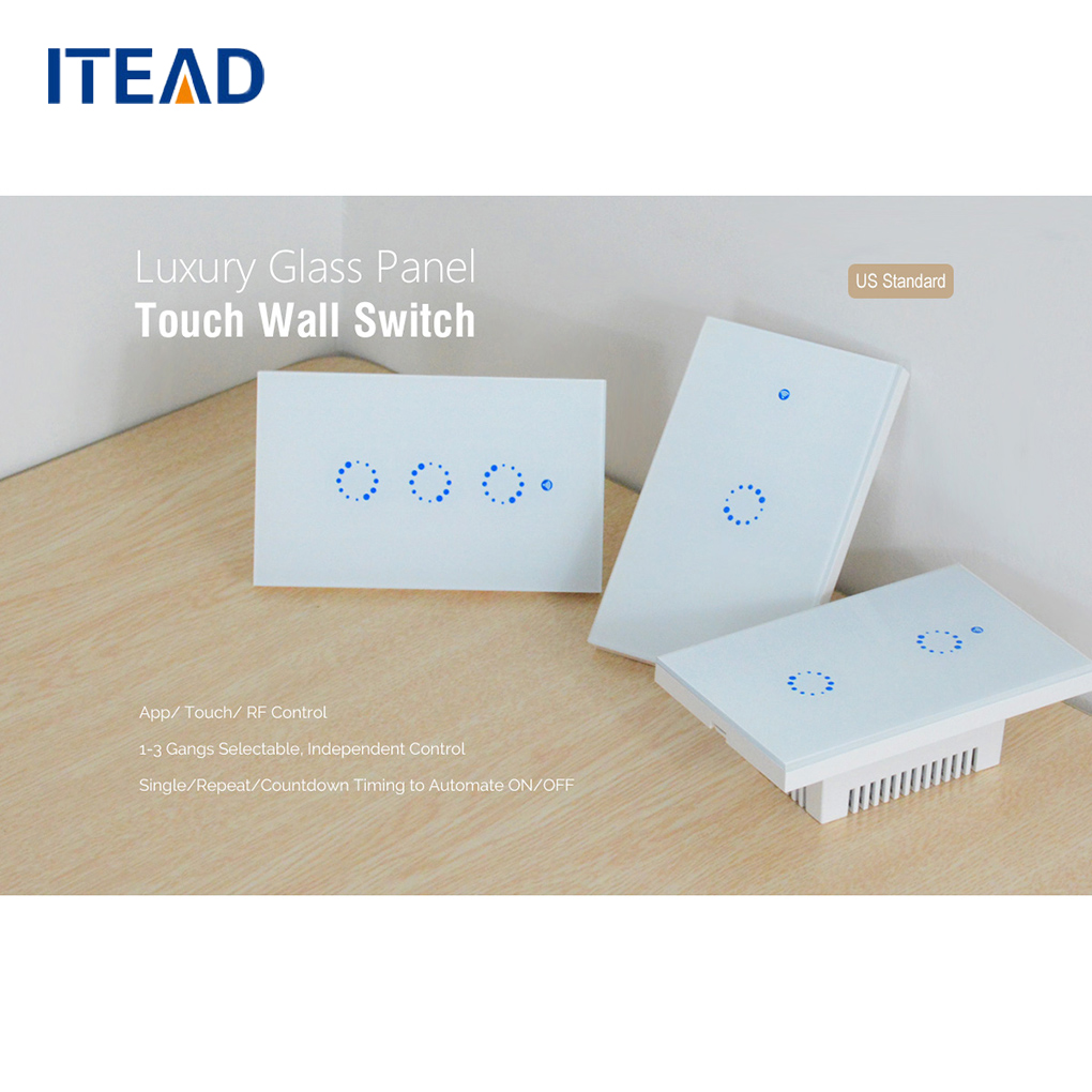 Sonoff T1 US 1/2/3 Gang Smart Touch Light Switch Intelligent WiFi RF Remote Control Lamp Switch Panel Timing Wall Switch sonoff t1 us smart touch wall switch 1 2 3 gang wifi 315 rf app remote smart home works with amazon free ios and app ewelink