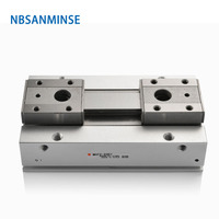 NBSANMINSE MHF2 Low Profile Air Gripper Air Pneumatic Gripper Linear Electric Parallel Gripper SMC Type Air Cylinder