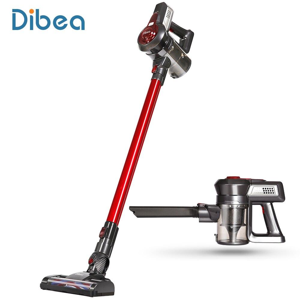 Dibea C17 portátil 2 In1 inalámbrico Stick de mano aspirador colector de polvo hogar aspirador con la estación de acoplamiento de la barredora