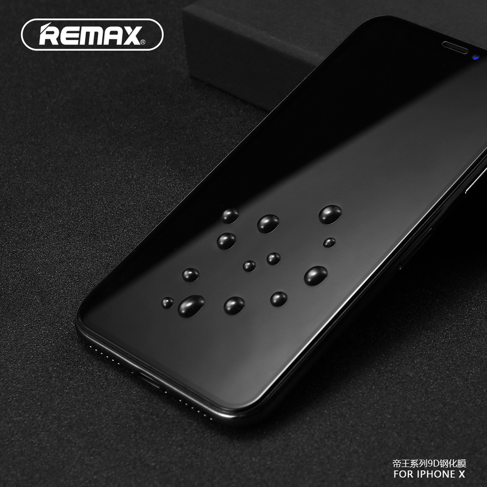 REMAX 9D Full Cover Tempered Glass Screen Protector for iPhone XS XR XS MAX  Curved Surface Film