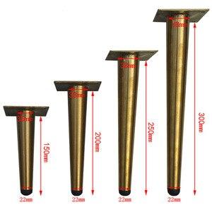 Image 3 - 4pcs 10cm/15cm/20cm/25cm/30cm Stainless Steel Cabinet Leg TV Holder Legs Tea Table feet Cupboard Supports Sofa Legs