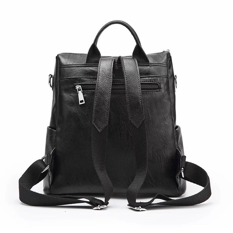 New Fashion Design Women Backpack High Quality Youth Leather Backpacks for Teenage Girls Female School Shoulder Bag Bagpack mo 2 in Backpacks from Luggage Bags