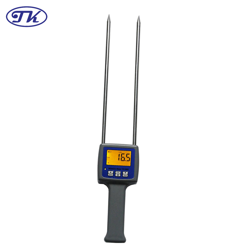 TK100G11 LCD Digital Grain Flour Moisture Meter Tester For Wheat,Corn,Semolina,Soybeans,Coffee Flour Hygrometer mc 7806 digital moisture analyzer price with pin type cotton paper building tobacco moisture meter