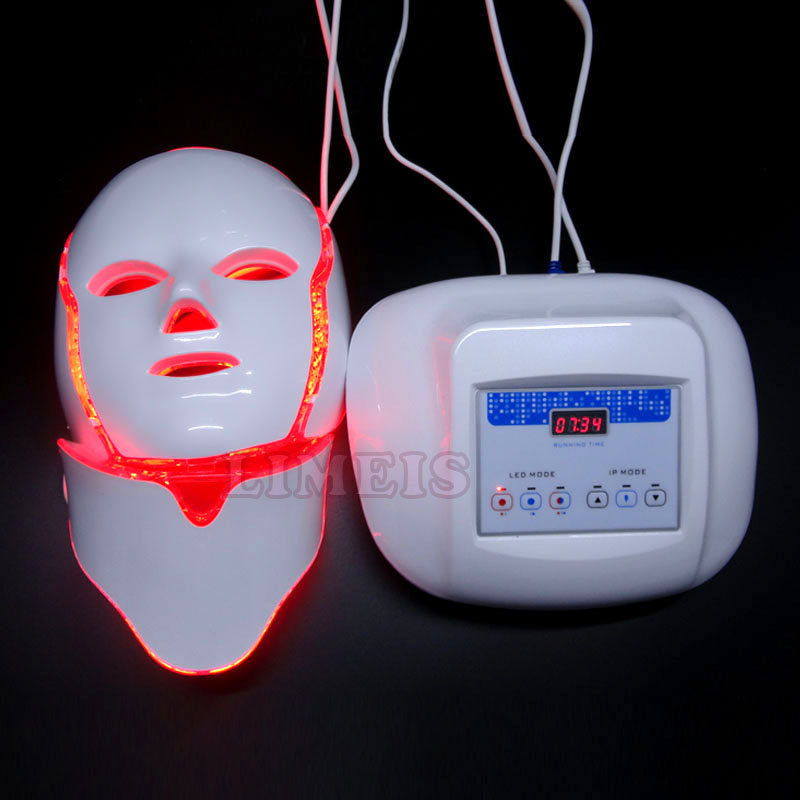 photon led infrared facial mask 3 colors microcurrent