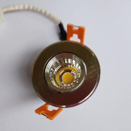 Горячая продажа 5 Вт удара Подпушка свет AC 85-265 В затемнения светодиодные лампы утопила пятно света холодной /теплый белый Бра с LED Driver