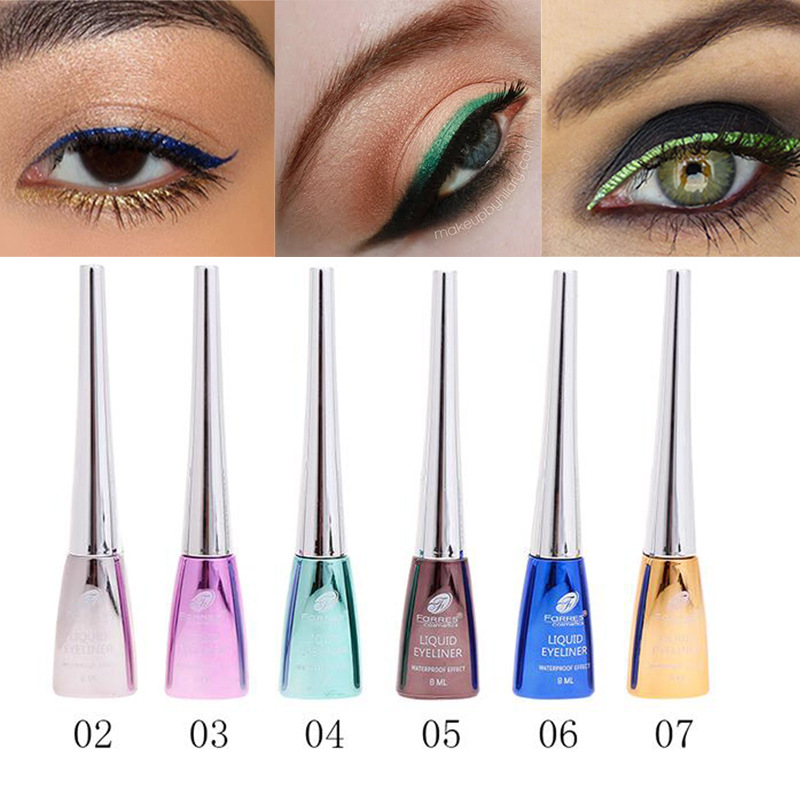 Beauty & Health Beauty Essentials Imported From Abroad Farres Colorful Eyeliner 6 Colors Black Blue Purple Brown Eye Liner Waterproof Long Lasting Matte Liquid Eyeliner Tattoo Am035 Delicious In Taste
