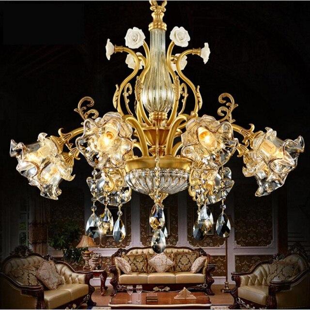 bathroom crystal pendant light drops copper villa living room dining ...