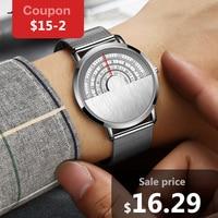 Gift Ultra Thin Watches Fashion Casual Men S Top Brand Luxury Watch SINOBI Steel Mesh Band