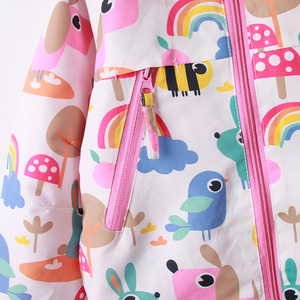 Image 3 - 2020 New winter spring girls top clothing fashion warm children outerwear for girls 2 9Y rainbow print kids jakcets coats girls