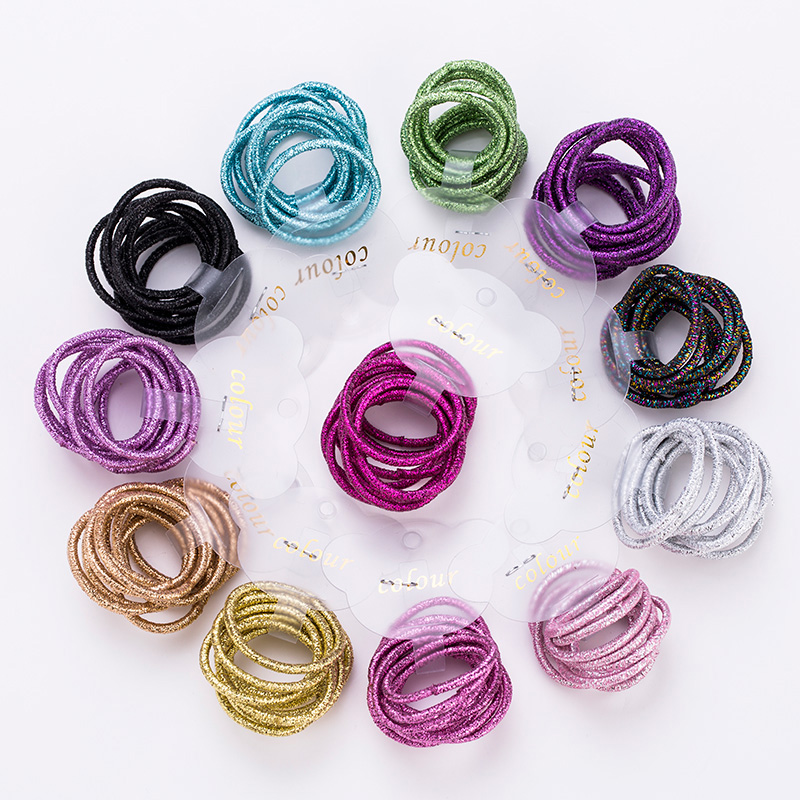 10PCS/Lot New Girls Cute Colorful 3.0cm Elastic Hair Bands Tie Gum Scrunchie Rubber Band Children Headband Kids Hair Accessories