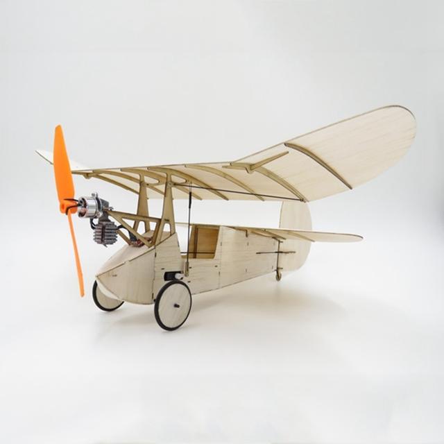 Kit de Madera de Balsa 358 MM Envergadura Micro RC Avión Newton de pulgas Con Sistema de Alimentación