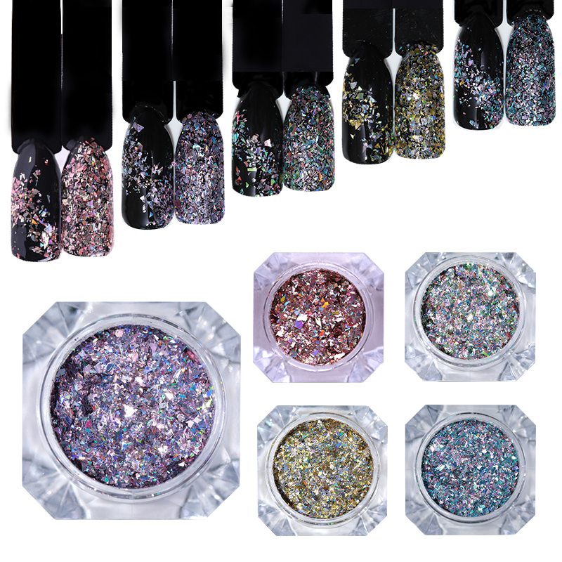 Image 2 - BORN PRETTY 1g Holo Laser Flakes Shiny Nail Sequins Holographic Glitter Powder Paillette 3D Nail Art Decoration DIY Manicure-in Nail Glitter from Beauty & Health
