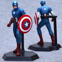 EMS Shipping 6pcs Cool 9 The Avengers Captain America 22cm Boxed Marvel Super Hero PVC Action
