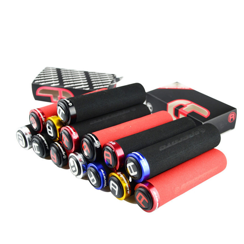 bicycle bike grips lock mountain bike cycling grip mtb handlebar grips grips to bike bicycle handle bicycle parts 1 pair cycling mtb mountain bike fixed gear grips bicycle handlebar lock on rubber grips cycle bike bicycle parts 5 colors