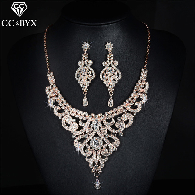 Vintage Jewelry Earring and Necklace Bridal Wedding Jewelry Sets