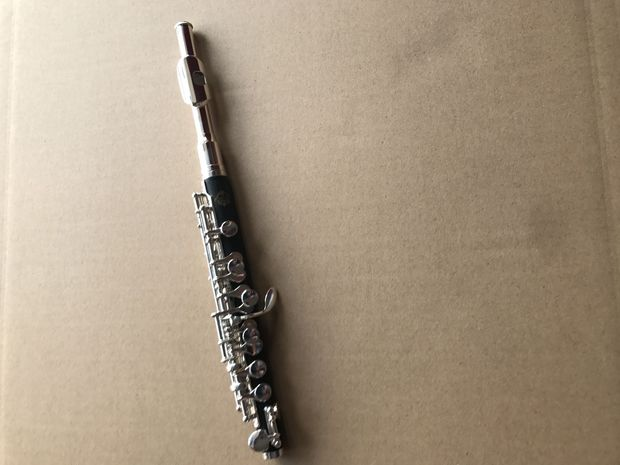 Quality goods C piccolo Bakelite silver plated copper tube body beginners employs band playing the church