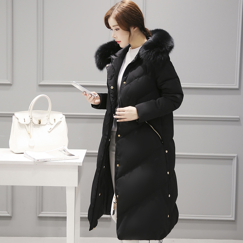 2017 New Winter Natural fox Fur Thicken Down Coats Fashion Long Parkas Women Down Jackets Snow Outerwears Female Overcoats цена