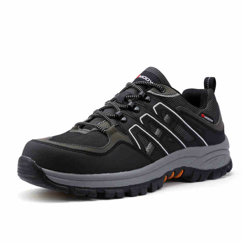men casual breathable steel toe caps work safety shoes plate sole non-slip outdoors climb hiking tooling ankle boots platform bendis brian michael powers volume 2