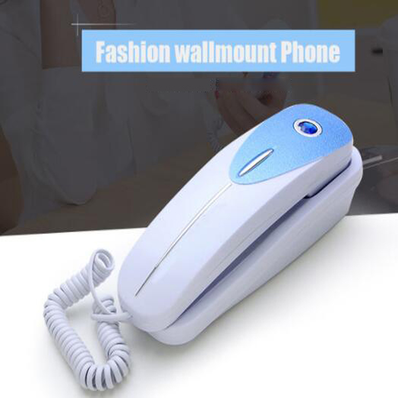 Dtmf/fsk 미니 벽 전화 듀얼 홈 오피스 호텔 들어오는 추억 발신자 id 전화 뒤로 lcd 디스플레이 유선 전화