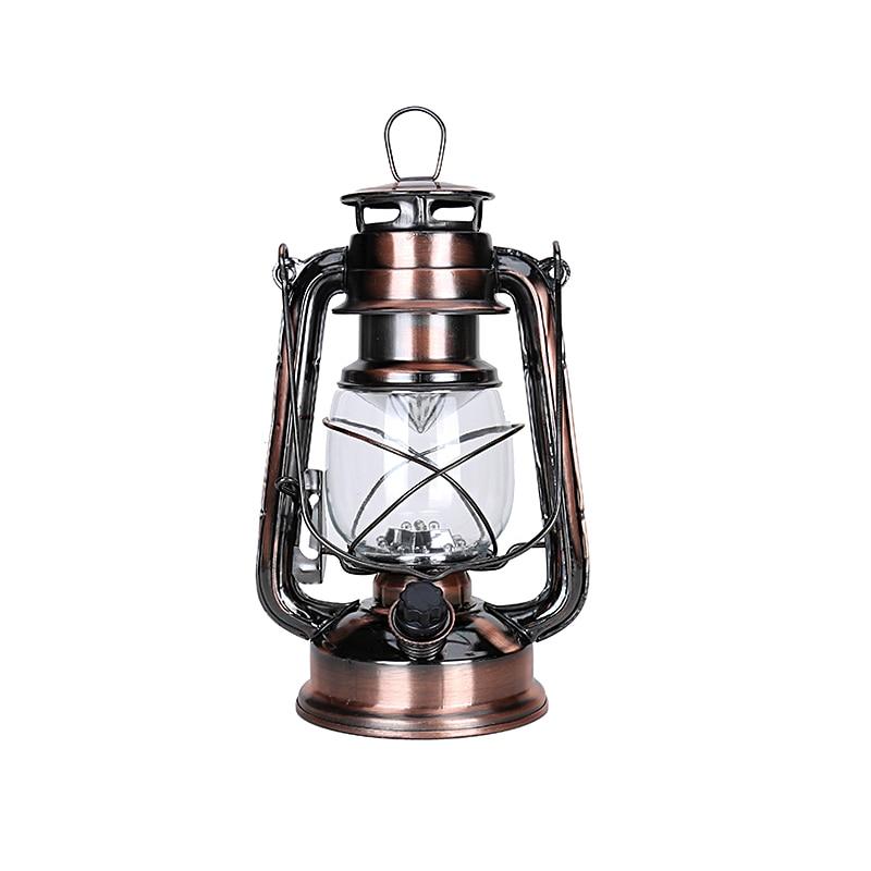 1 Pcs dipimpin lampu minyak, Besi Candlestick lilin, Minyak tanah, Alkohol portabel lampu pencahayaan, Kebaruan hadiah, Dekorasi natal