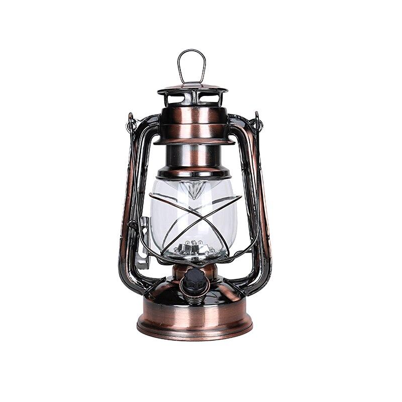 1 Pcs LED Oil Lamp Iron Candlestick Candle Kerosene Lamps Portable Alcohol Lamp Lighting Novelty Gift Christmas Decoration