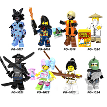 2018 Ninjago Gamma Sharkman Garmadon Master Wu NYA  LEGOINGLYS Building Blocks Mini Bricks Children Toys zk20