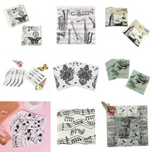 20 Vintage aves árbol mariposa flores nido Decoupage servilletas de papel con impresos fiesta de boda casa Decoración de mesa