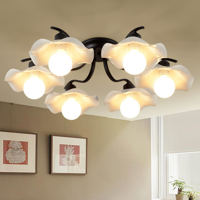 2017 Supply LED Nordic Living Room Study Ceiling Lights American Modern  Simple Dining Room Ceiling Lamp