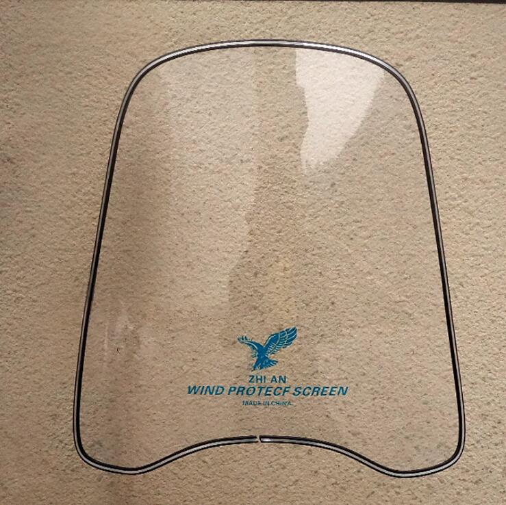 MOTORCYCLE SCOOTER UNIVERSAL WINDSCREEN WINDSHIELD UNIVERSAL FOR SCOOTER MOPED ATV ...