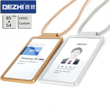 DEZHI Simple Metal ID Card Badge Holders with Safety Lanyard and Adjustable Buckle comfortable Focus on