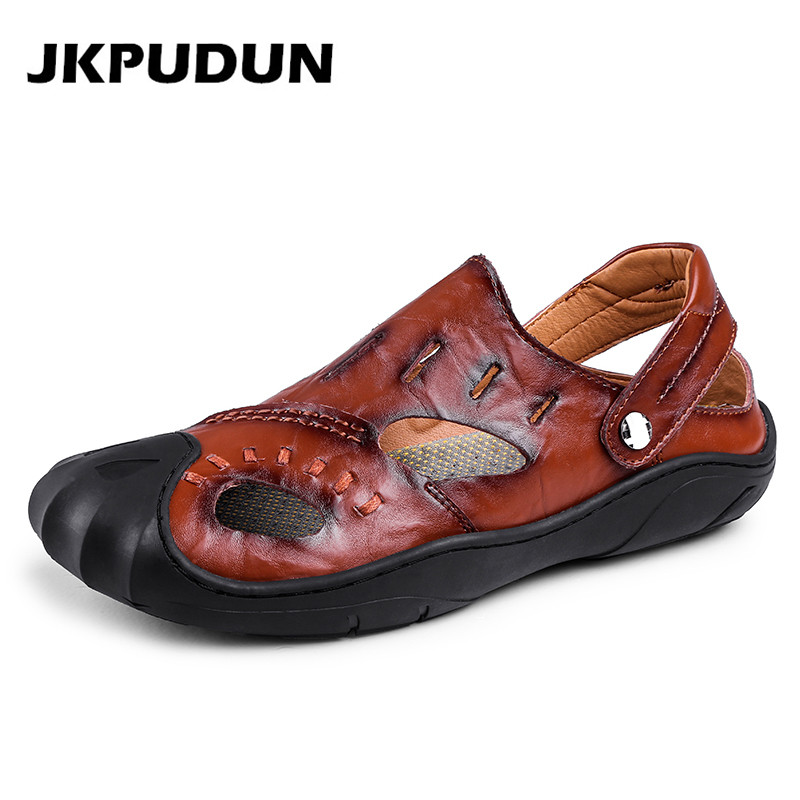 JKPUDUN Summer Men Sandals Slippers Outdoor Gladiator