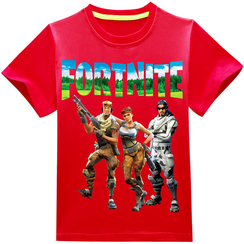 Hot Game Fortnite Character Print Summer Boys Tops Summer 2018 Brand Children T Shirts Boys Clothes Kids Tee Shirt Girls Clothes