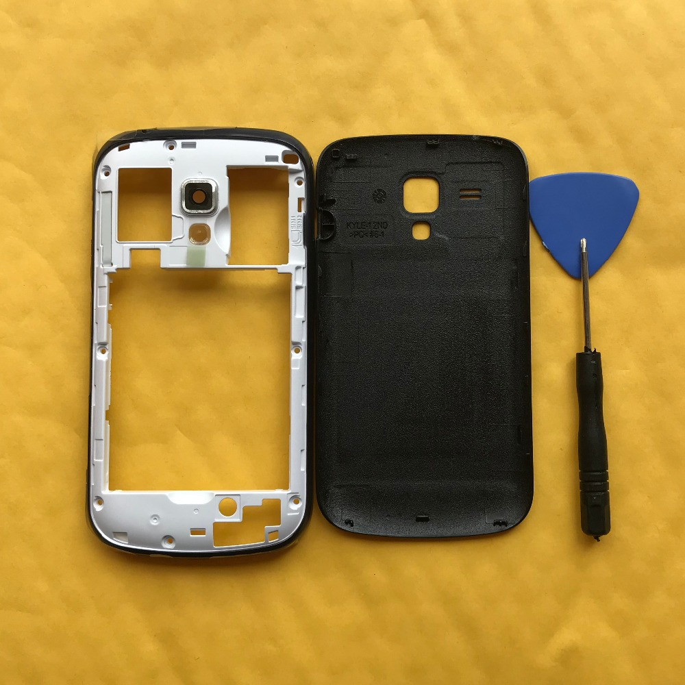 Housing Middle Frame For Samsung Galaxy S7560 7560 Trend Plus S7580 7580 Original Phone Rear Battery Door Back Cover Case