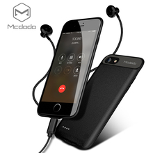 MCDODO зарядное устройство Чехлы для iPhone 7 чехол с аккумулятором портативный беспроводной зарядное устройство для iPhone 7 Чехол с аккумулятором тонкий корпус Мощность