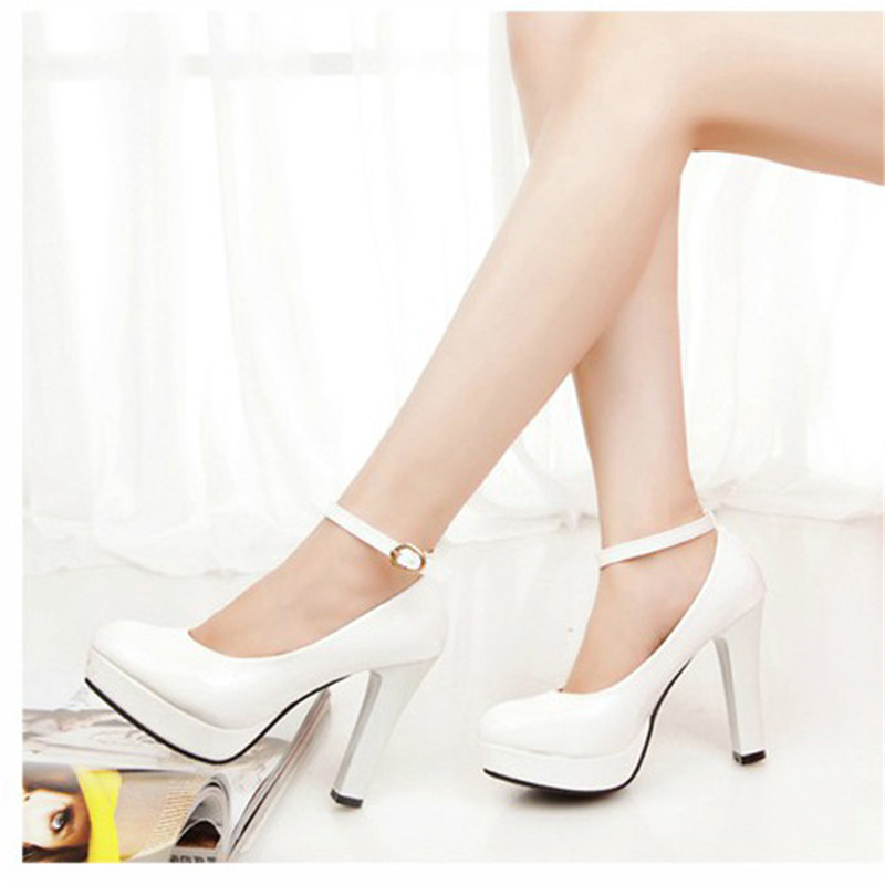 fb5f3a8ffbbc Spring 2016 retro women silver glitter wedding thin high heels platform  prom shoes round closed toe pumps bayan ayakkabi F50-in Women s Pumps from  Shoes on ...