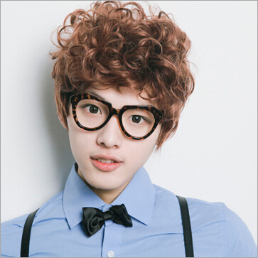 The New Boys Wig Handsome Men With Short Hair Fluffy Hair Wig - Short hair curly korean