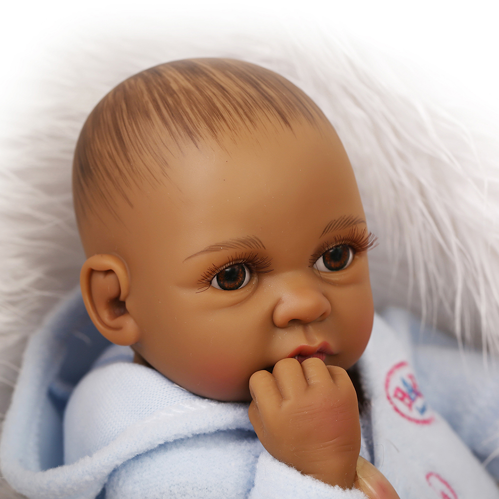 Newborn Baby Doll Baby Bath Toy Full Silicone Body Eyes Open With ...