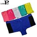Lobbpaja marca wholesale lote 12 unids boxers underwear mujer boyshorts algodón de las señoras de las mujeres bragas calzoncillos ropa interior para las mujeres