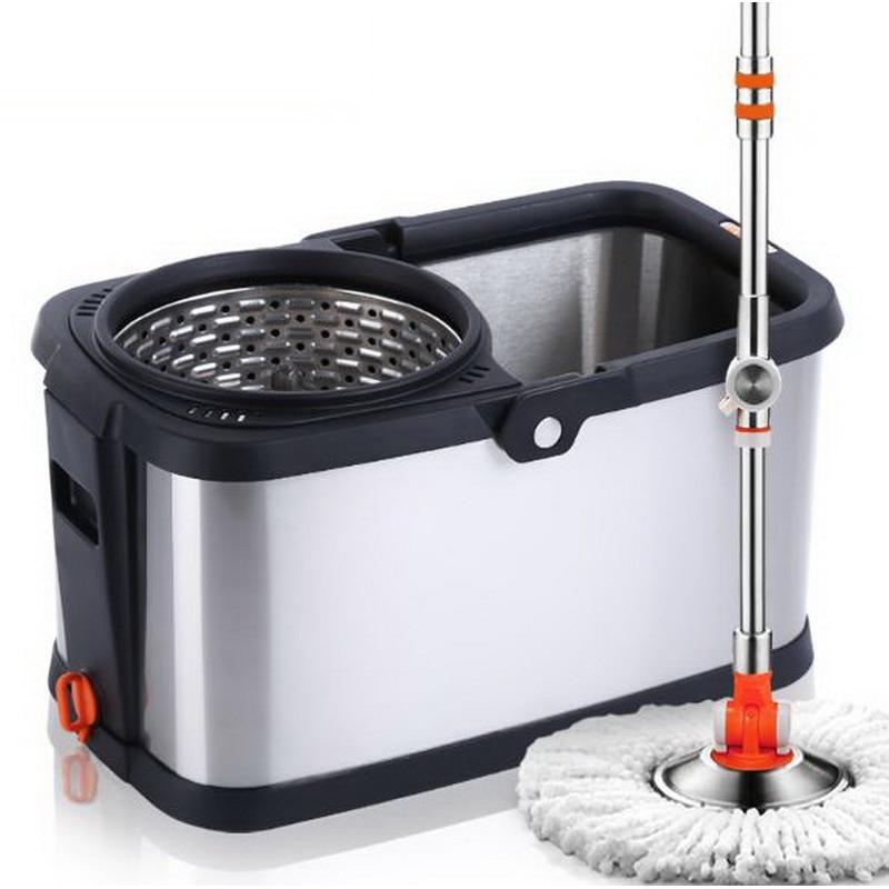150609/ведро для швабры с вращающимся двойным приводом из нержавеющей стали/Швабра для дома/инструменты для уборки дома - 5