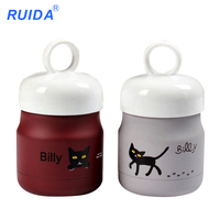 2017new Cat Rings 18 8 Stainless Steel Thermos Cup Outdoor Sports Portable Cup Students Cute Mugs