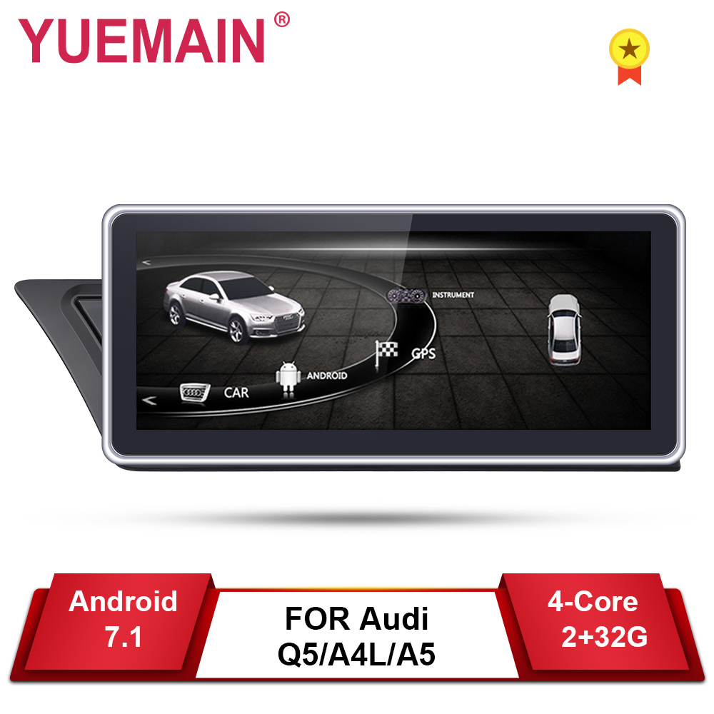 Car DVD GPS Player for Audi A4L B8 A5 2009-2017 Android 7.1 Auto Radio Multimedia navigation 2GB+32GB IPS Screen Rear camera